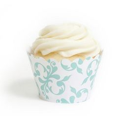 Tiffany Blue Filigree Cupcake Wrappers : Wholesale Wedding Supplies, Discount Wedding Favors, Party Favors, and Bulk Event Supplies Wedding Supplies Wholesale, Diy Wedding Supplies, Diy Party Supplies, Wedding Ideas, Wedding Favors, Party Favors, Spring Cupcakes, Swirl Cupcakes, Easter Cupcakes