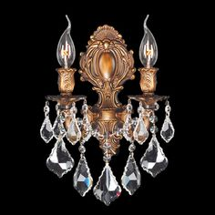 Found it at Wayfair - Versailles 2 Light Crystal Wall Sconce