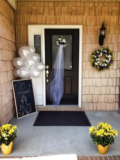 Front house decorated for wedding