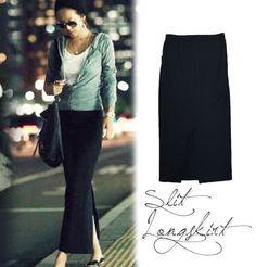 裏地付きのスリットスカート|大きいサイズのレディース服専門通販【ゴールドジャパン公式サイト】
