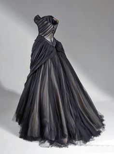 4f493b2708003 charles james Black Silk, Ivory Silk, Silk Satin, Chiffon Evening Dresses,  Silk