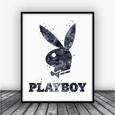 Playboy Logo Art Print Poster Black by Carma Zoe From $10.00