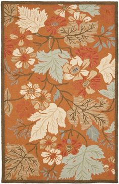 Blossom BLM917A Hand Hooked Floral Wool Rug - Safavieh Rugs | Rugs by SelectRugs.com $103.28