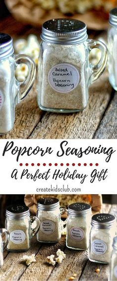 Homemade Popcorn Seasoning recipes are the perfect way to flavor popcorn without the calories and fat. Sprinkle on a bowl of popcorn tonight! (Homemade Mix And Seasonings) Homemade Popcorn Seasoning, Homemade Spices, Homemade Seasonings, Homemade Flavored Popcorn, Homemade Food Gifts, Homemade Cheese, Popcorn Snacks, Gourmet Popcorn, Popcorn Bar