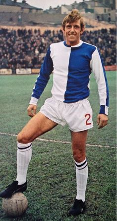 Keith Newton of Blackburn Rovers in 1968.