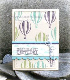 Up, up & away by Evee's aunt - Cards and Paper Crafts at Splitcoaststampers