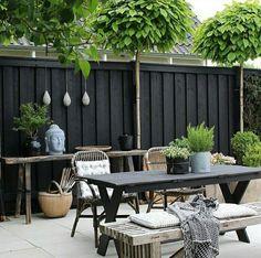 terrassengestaltung kleiner teppich grau sitzecke orientalische