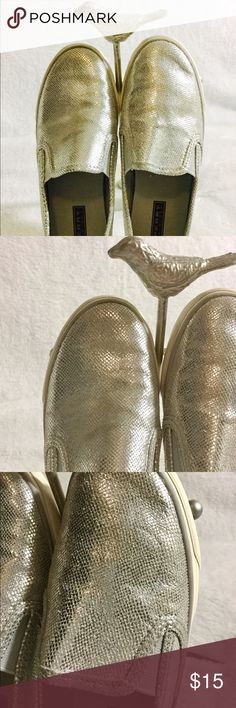 Sperry Top-Sider Women's Shoes! Sperry Top-Sider Women's Shoes! Super cute silver slip-on sneakers! Excellent Condition! Size 7W Sperry Top-Sider Shoes