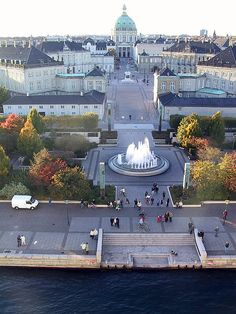 Amalienborg is the winter home of the Danish royal family, and is located in Copenhagen, Denmark.