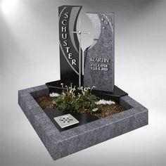 Grabstein-Neuheiten Fulda Memorial Markers, Cemetery Headstones, Floating Nightstand, Funeral, Memorial Ideas, Graveyards, Modern, Flowers, Om