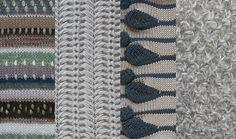 Karina Klucnika knitwear designs - harmonious group of swatches.
