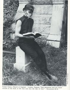Father Vance, Church of England † From Propaganda Magazine, Issue #13 1990 † photo by Fred H. Berger †