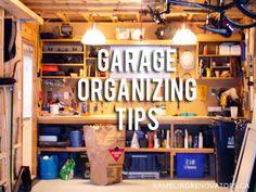 Rambling Renovators: The Organized Garage #garage #organization