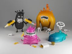 Sin toys (Fontomass project) by HandMadeFont , via Behance