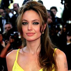 Angelina Jolie.  Her hair and makeup is simply gorgeous here