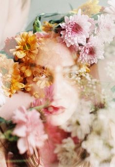 Whimsical photography. Floral portrait. owlsandbirdcages
