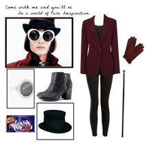 A fashion look from October 2012 featuring H&M tops, H&M ankle booties and Catarzi 1910 hats. Browse and shop related looks. Willy Wonka Halloween Costume, Halloween Kostüm, Halloween Cosplay, Halloween Outfits, Cool Costumes, Adult Costumes, Costumes For Women, Cosplay Costumes, Halloween Disfraces