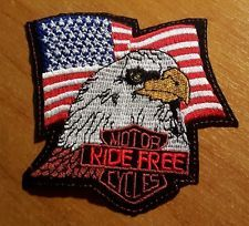 Patch Toppa USA American Ride Free Cycles Eagle | eBay