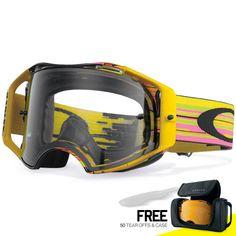 2776c5b711 Oakley Airbrake MX Goggles - Glitch Pink Yellow Green