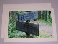 Mountain Trail Directions Sign  BLANK CARD by KindredSpiritImages