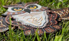 Игрушка «Сова-дергунчик» с точечной росписью