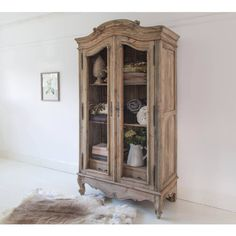 Buy the beautifully designed Chateauneuf Rustic Wire Fronted French Armoire, by The French Bedroom Company. French Country Furniture, French Country Kitchens, French Country Bedrooms, French Country Style, Country Bathrooms, Rustic French, French Decor, French Country Decorating, Armoire Makeover
