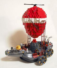 SteamPunk LEGO Airship by tikitikitembo, via Flickr