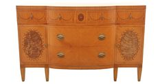 Hepplewhite-style sideboard  Empire furniture company of Rockford, Illinois. Maker's mark on the inside upper drawer dates the piece from between 1928 and 1940. Five dovetailed drawers with...