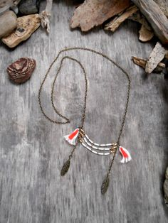 "Beautiful necklace ""NATIVE AMERICAN inspiration"" in style of amerindian breastplaste"
