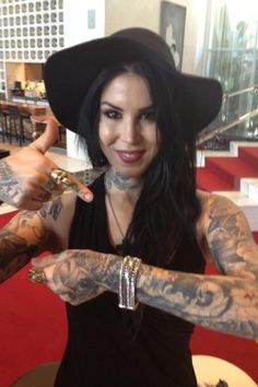 Kat Von D, wearing the Edwin bracelet by Buddha To Buddha