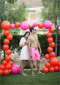 Modern/chic version of a balloon arch?