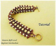 PROJECT SKILL LEVEL: beginner / intermediate LANGUAGE: English  This is a tutorial only. No beads and no finished product are included in this