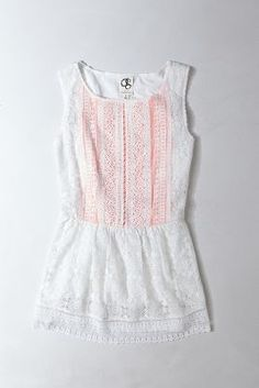 Anthropologie Coralline Peplum Top - love this top!! Great lace with peach color