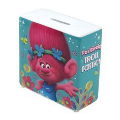 Trolls Money Box Ceramic Piggy Bank Novelty Poppy Glitter Guy Film Kids Gift #Trolls