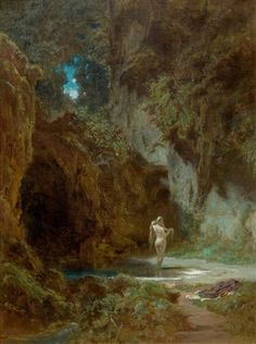 View Badende Nymphe Bathing nymphs by Carl Spitzweg on artnet. Browse upcoming and past auction lots by Carl Spitzweg. Romantic Paintings, Classic Paintings, Old Paintings, Fantasy Kunst, Fantasy Art, Carl Spitzweg, Renaissance Kunst, Les Religions, Aesthetic Painting