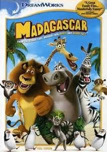 The DVD box of the first Madagascar film.