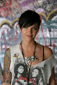 The Dame International — leslienice: Ruby Rose. absolutely breathtaking… The Dame International — leslienice: Ruby … Short Hair Cuts, Short Hair Styles, Pixie Cuts, Short Rocker Hair, Pixie Cut Bangs, Short Choppy Hair, Corte Y Color, Pixie Hairstyles, Punk Pixie Haircut