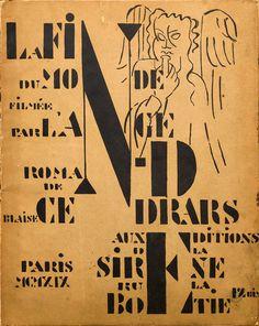 La Fin du monde. Cover. Artist: Fernand Léger. Author: Blaise Cendrars. Publisher: Éditions de la Sirène, Paris, 1919. Size: 25×31.5 cm