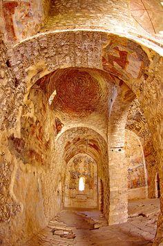 Grèce Peloponnèse Μυστράς Mistras Mystras - ville byzantine 159 l'église Saint-Nicolas   por paspog