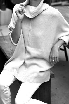 Fall is the season for slouchy sweaters.  Wear it with jeans, shorts, or leggings.