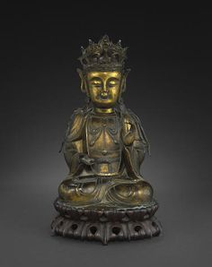 A gilt bronze seated figure of a Buddha Ming dynasty
