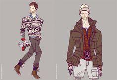 Standard Deviation - Fashion. Design. Culture. Art. Myko.: Burkman Bros Fall / Winter 2011 Menswear Illustrations