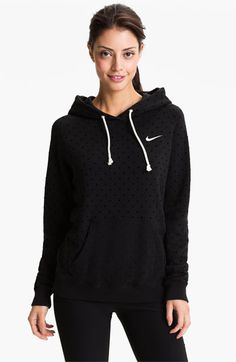 Nike 'Rally' Dot Print Hoodie | Nordstrom    black or grey L