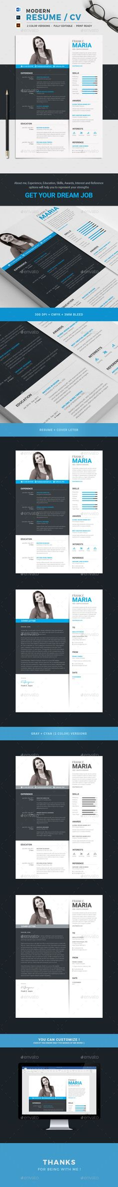 This Modern, Clean and Minimal Resume with strong typographic structure is very easy to use and customize. This resume is very well organized and labeled for you to get the best result in the minimum possible time. Statement, Experience, Education, Skills, Award, Interests and Reference included in this Resume template which will be helpful for you to express your strengths and to get your dream job.