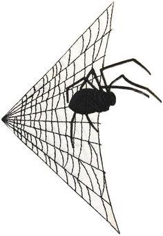 "Amazon.com: [Single Count] Custom and Unique (4"" x 6 1/4"" Inch) ""Halloween"" Simple Dark Retro Hallows Eve Arachnid Black Widow Spider & Web Design Iron On Embroidered Applique Patch {Black Colored}"