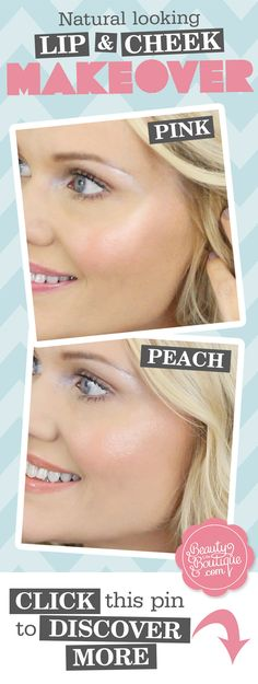 Click this image for the easiest way to naturally pretty lips AND cheeks whether you're feeling PEACHY or Pretty in Pink!