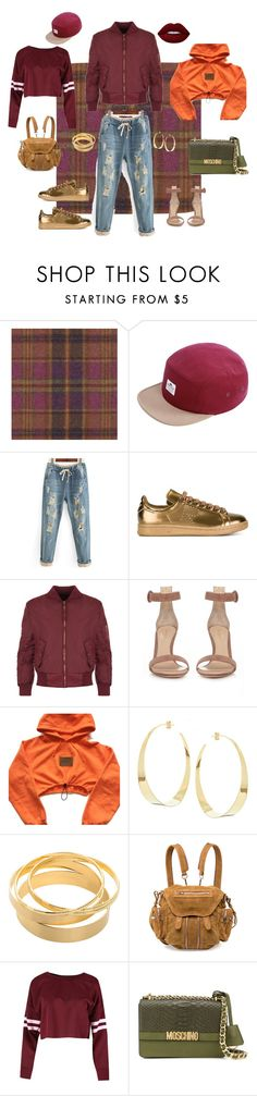 """Autumn Vibes: Tomboy Edition"" by thriftytee ❤ liked on Polyvore featuring Duralee, Penfield, adidas, WearAll, Gianvito Rossi, Lana, Alexander Wang, Moschino and Lime Crime"
