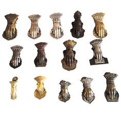 Collection of 15 19th Century Letter Clip Holders from New England | From a unique collection of antique and modern historical memorabilia at http://www.1stdibs.com/furniture/more-furniture-collectibles/historical-memorabilia/