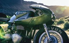 "For Motorcycle fans- ""Three Martini Lunch""-  Click to read about this superb Triumph ICON custom build"