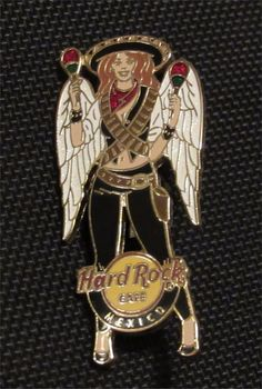 BUY IT NOW FREE SHIPPING Hard To Find Hard Rock Cafe Pin Sexy GIRL Wings Maracas Sombrero MEXICO   #HardRockCafe